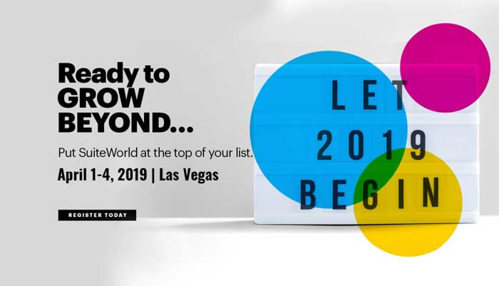 Join us for NetSuite SuiteWorld 2019