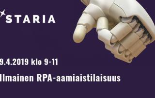 RPA-aamiaistilaisuus 9.4.2019