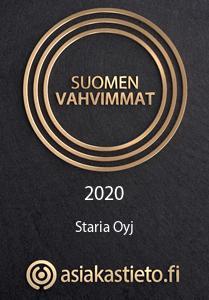 Vuoden vahvimmat Staria 2020