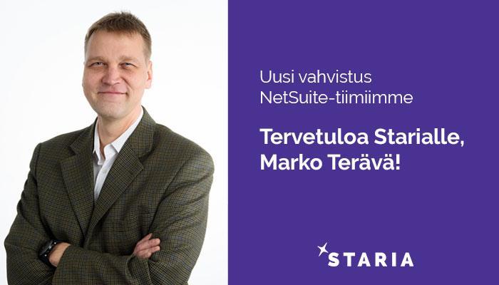 Marko Terävä SuiteApp Manager, Staria