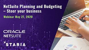 Webinar: NetSuite Planning and Budgeting - Steer your business
