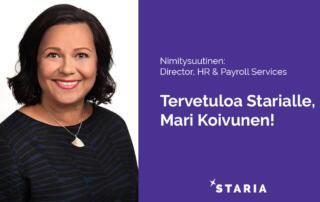 Mari Koivunen - Starian HR- ja palkkapalveluiden johtajaksi