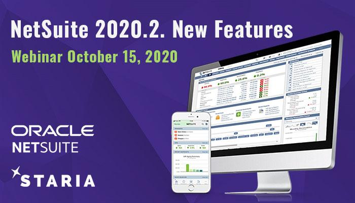 Webinar: NetSuite new features 2020.2.