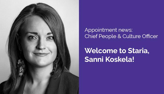 Sanni Koskela Chief People & Culture Officer