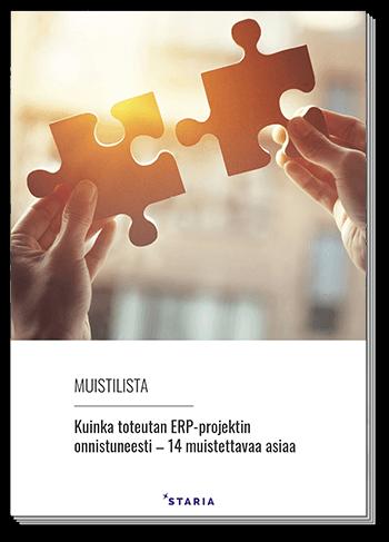 14 kohdan muistilista onnistuneeseen ERP-projektiin