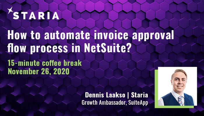 Webinar: How to automate invoice approval flow process in NetSuite?