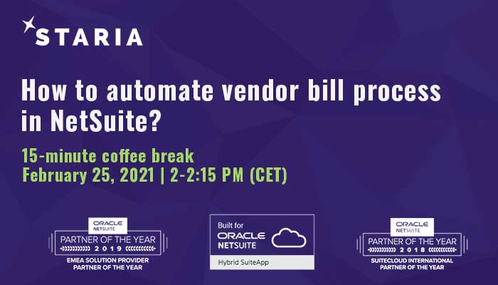 Webinar: How to automate vendor bill process in NetSuite?