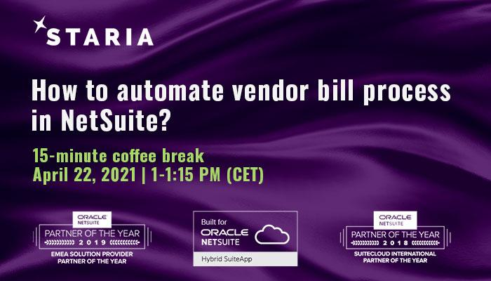 Webinar: How to automate vendor bill process