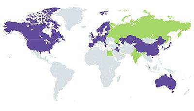 Global Accounting Service Map