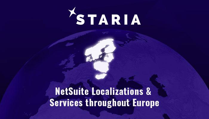 Staria's NetSuite localization SuiteApps